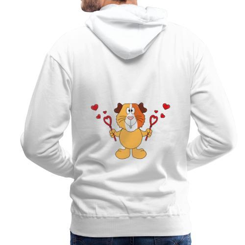 Meerschweinchen - Seifenblasen - Herzen - Liebe - Männer Premium Hoodie