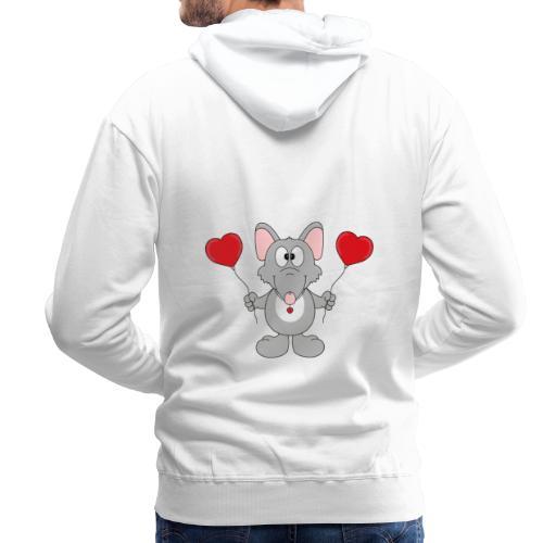 Ratte - Herzen - Luftballons - Geschenk - Tier - Männer Premium Hoodie