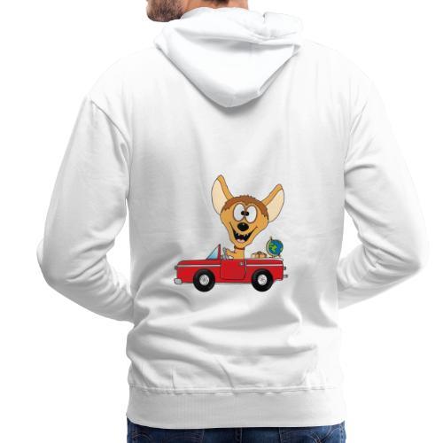 Hyäne - Auto - Reise - Urlaub - Tierisch - Fun - Männer Premium Hoodie
