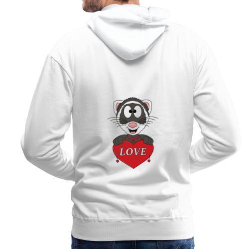 Frettchen - Herz - Liebe - Love - Tier - Kind - Männer Premium Hoodie