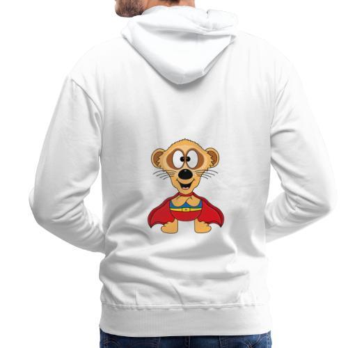 Erdmännchen - Superheld - Kind - Baby - Tier - Männer Premium Hoodie