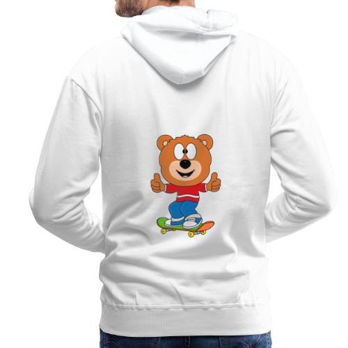 Teddy - Bär - Skateboard - Sport - Kind - Baby - Männer Premium Hoodie