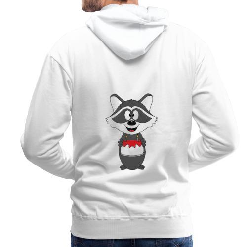 Waschbär - Geburtstag - Torte - Kind - Tier - Baby - Männer Premium Hoodie