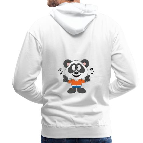 Panda - Bär - Musik - Kind - Tier - Baby - Männer Premium Hoodie