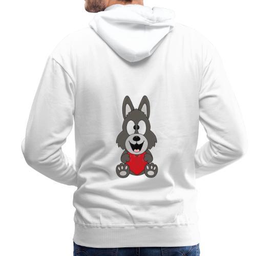 Wolf - Herz - Liebe - Love - Tier - Kind - Baby - Männer Premium Hoodie