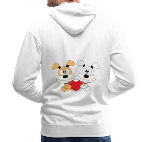Hunde - Herz - Liebe - Love - Kind - Baby - Tier - Männer Premium Hoodie