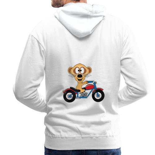 Erdmännchen - Motorrad - Biker - Kind - Baby - Männer Premium Hoodie