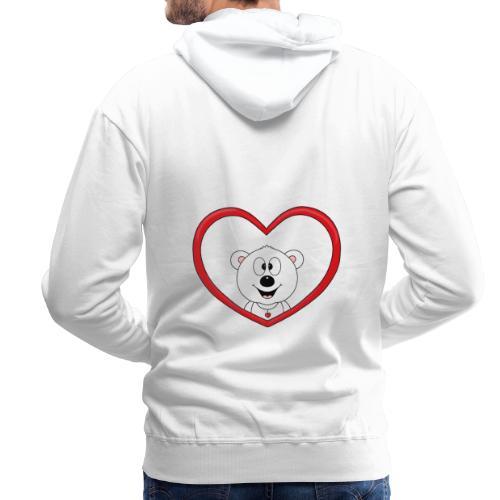 Eisbär - Bär - Teddy - Herz - Liebe - Love - Fun - Männer Premium Hoodie