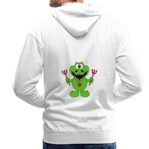 Krokodil - Teufel - Kind - Baby - Tier - Fun - Männer Premium Hoodie