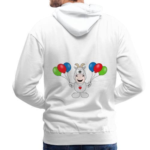 Ziege - Luftballons - Geburtstag - Party - Tier - Männer Premium Hoodie