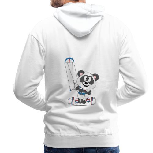 Panda - Bär - Kite - Kitesurfer - Kitesurfen - Fun - Männer Premium Hoodie