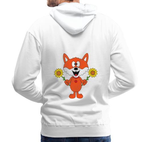 Fuchs - Sonnenblumen - Kinder - Tier - Baby - Männer Premium Hoodie