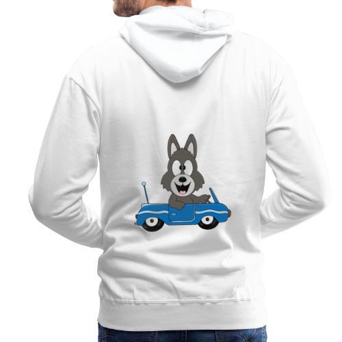 Wolf - Auto - Cabrio - Führerschein - Fahrschule - Männer Premium Hoodie