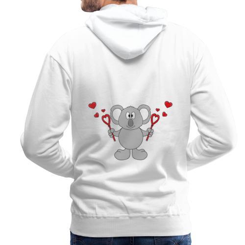 Koala - Bär - Seifenblasen - Herzen - Liebe - Love - Männer Premium Hoodie