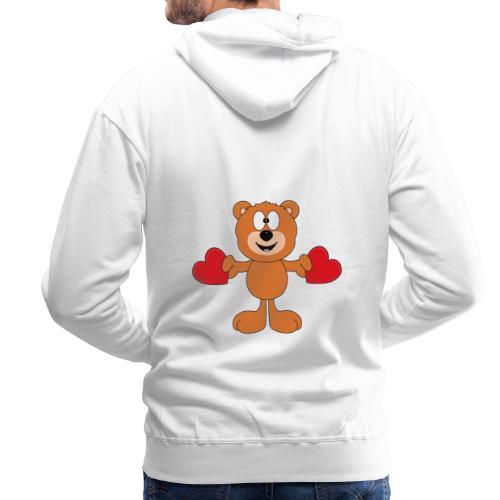 Teddy - Bär - Herzen - Liebe - Love - Tier - Männer Premium Hoodie