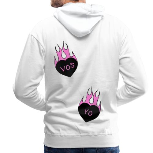 Vos Yo Heart in Flames Tatto - Sudadera con capucha premium para hombre