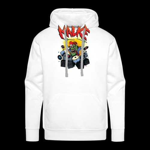 Malke - Man Premium White - Monster - Black - Sudadera con capucha premium para hombre
