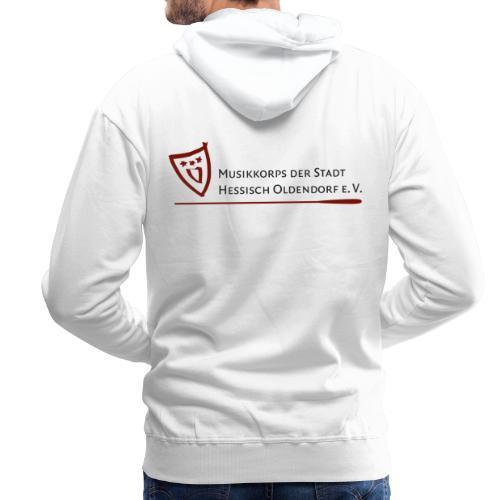 Logo bordeaux - Männer Premium Hoodie