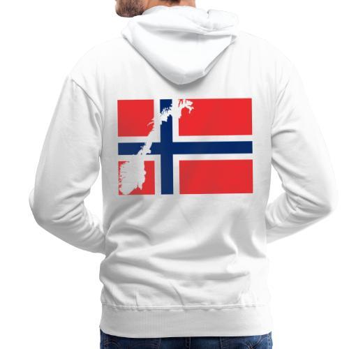 Norges Flagg - Männer Premium Hoodie