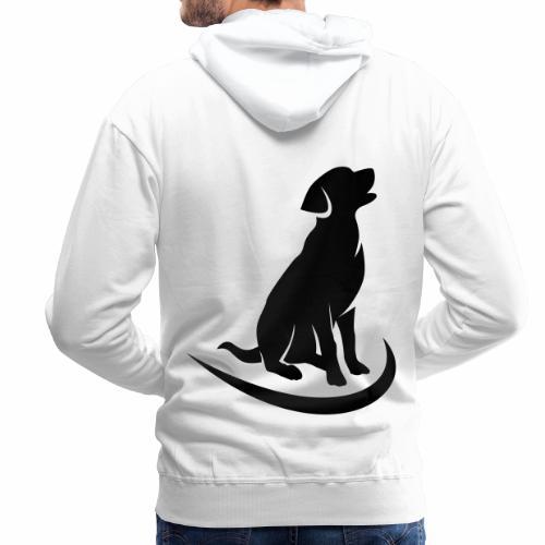 siluetta perro - Sudadera con capucha premium para hombre