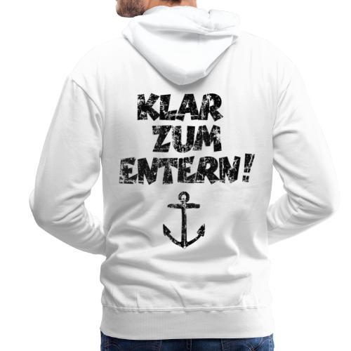 Klar zum Entern Segel Segeln (Vintage/Schwarz) - Männer Premium Hoodie