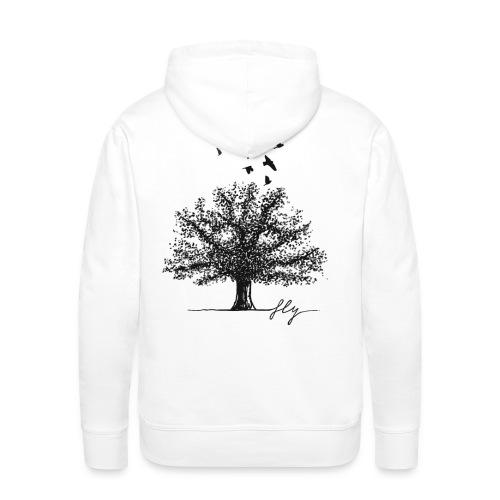 Tree Black - Mannen Premium hoodie