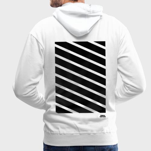Zebra Nation (Black Stripes) 2019 Collection - Men's Premium Hoodie