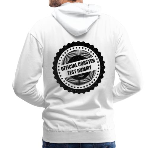 Official Coaster Test Dummy - Sweat-shirt à capuche Premium pour hommes