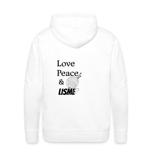 Love Peace & Lisme - Männer Premium Hoodie
