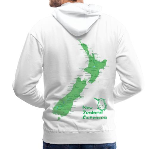 New Zealand's Map - Men's Premium Hoodie