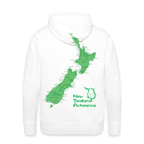New Zealand's Map - Men's Premium Hoodie