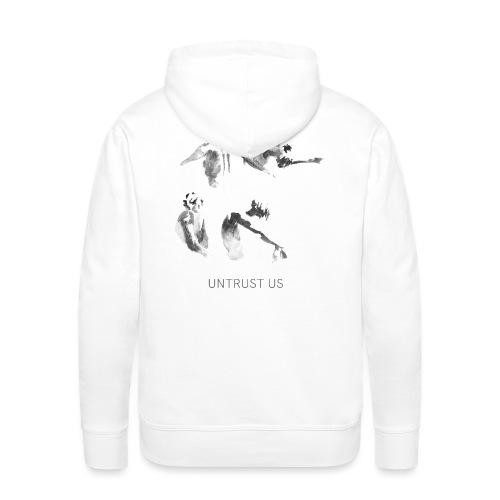 UNTRUST US Schrift + Cover Artwork Weiß - Männer Premium Hoodie