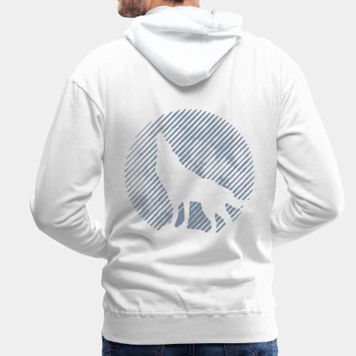WOLF_02 - Bluza męska Premium z kapturem