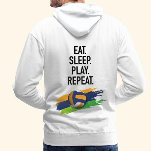 Eat.Sleep.Play.Repeat. - Männer Premium Hoodie