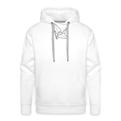 grue-de-papier - Sweat-shirt à capuche Premium pour hommes