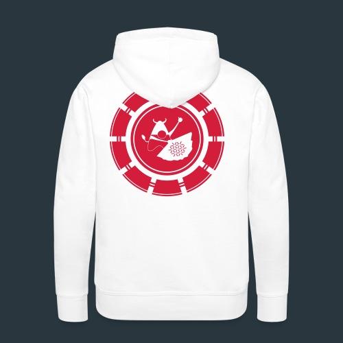 logo-jugntpellier_iron - Sweat-shirt à capuche Premium pour hommes
