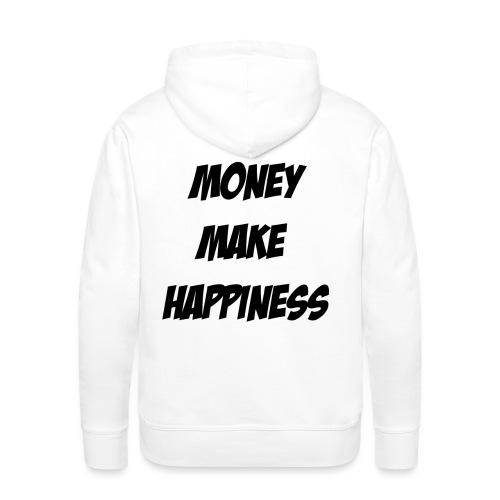 Money Make Happiness - Felpa con cappuccio premium da uomo