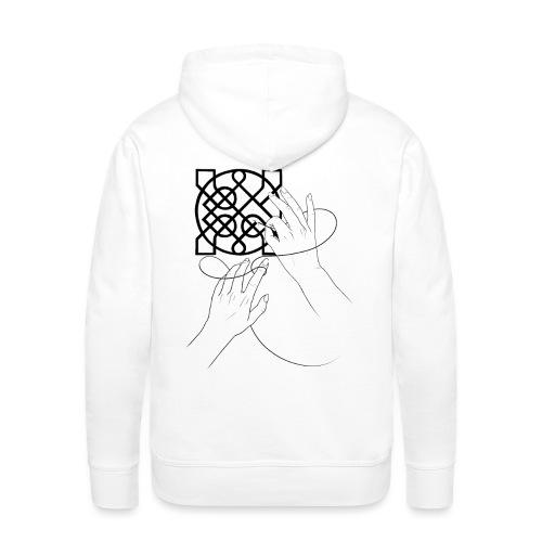 L'art de la broderie - Sweat-shirt à capuche Premium pour hommes