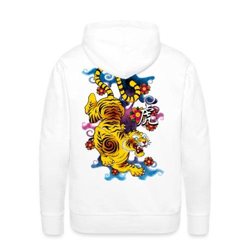 Japanese Tiger - Tattoo design - Sweat-shirt à capuche Premium pour hommes