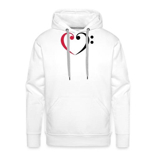 br lb heart - Männer Premium Hoodie