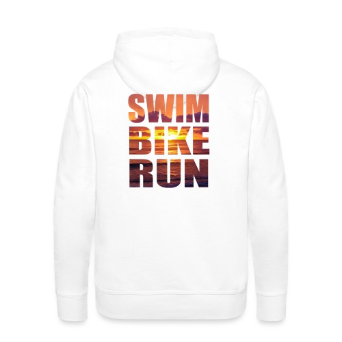 swim bike run @RUNNINGFORCE - Männer Premium Hoodie