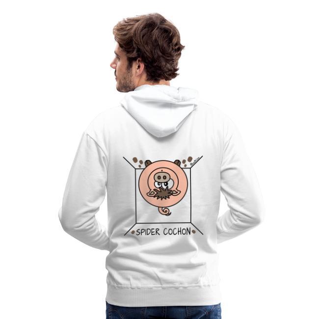 Spider Cochon, Homer | Sweat shirt à capuche Premium pour hommes