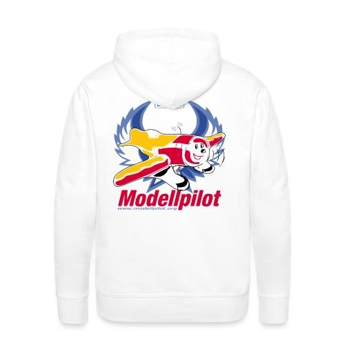 Modellpilot Logo blau - Männer Premium Hoodie