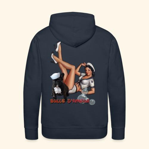 Pin Up navy bulldog - Sweat-shirt à capuche Premium pour hommes