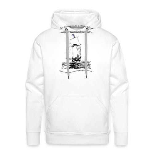 les corsaires de la république RECTO - Sweat-shirt à capuche Premium pour hommes