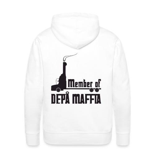 Depå Maffia svart tryck - Premiumluvtröja herr