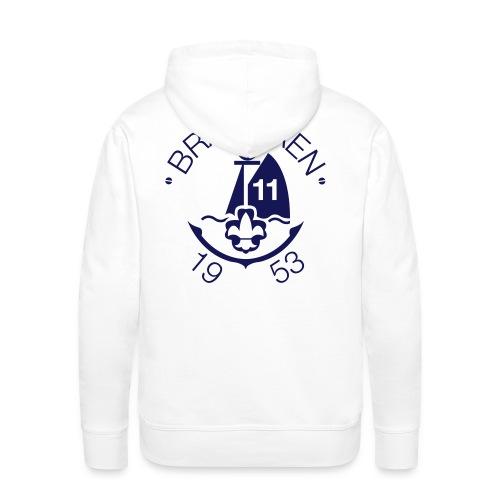 brandaen logo blauw - Mannen Premium hoodie