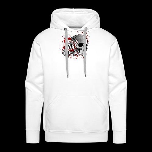WK Antisocial Logo Blut png - Männer Premium Hoodie