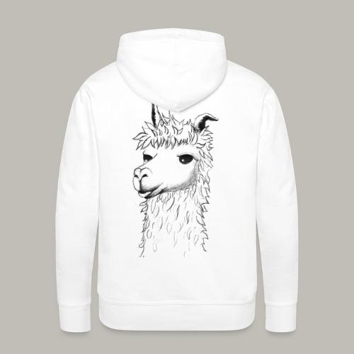 Lama - Sweat-shirt à capuche Premium pour hommes