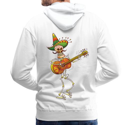 Mexican Skeleton Playing Guitar - Men's Premium Hoodie